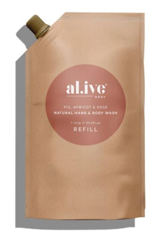 ALIVE BODY- REFILL - FIG, APRICOT & SAGE BODY WASH