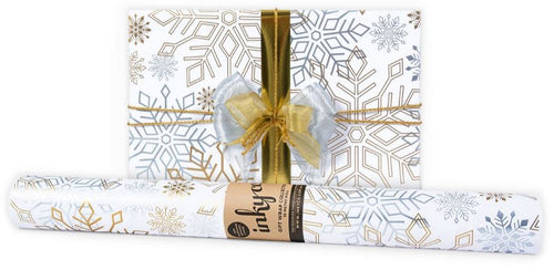 Flakee Gold Silver Wrapping Paper - Mandi at Home
