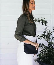 Load image into Gallery viewer, Mini Florence Leather Crossbody Wallet - French Navy - Bahru Leather - Mandi at Home