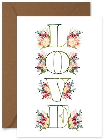 Flower Love - Little Hoothoot Card - Mandi at Home