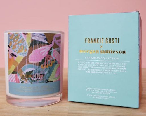 Frankie Gusti Candles - Artists Series - Christmas Morgan Jamieson Frankincense & Myrrh - Mandi at Home