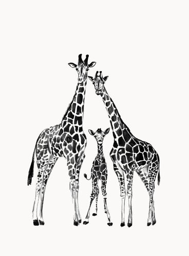 Wall Print - Giraffe Family - Mandi at Home