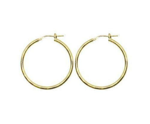 25mm Yellow Gold Plated Gypsy Hoop Earrings - Mandi at Home