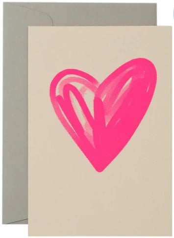 Gradient Heart - Neon Pink on Blush - Mandi at Home