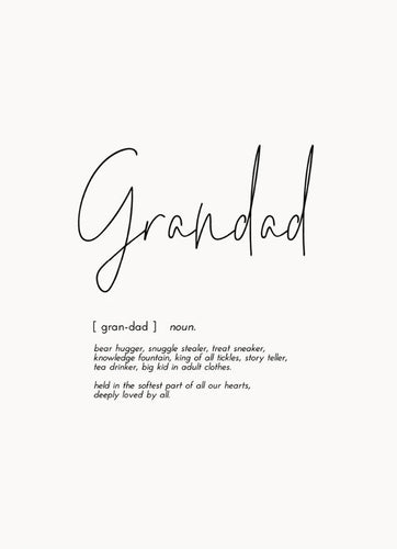 Word Print - Grandad - Mandi at Home