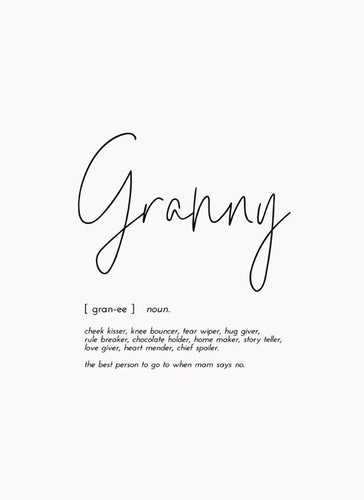 Word Print - Granny - Mandi at Home