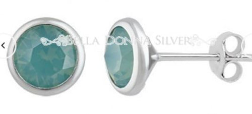 Sea Green Crystal Swarovski Studs - Mandi at Home