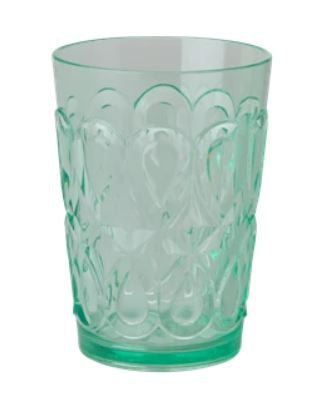 RICE - Swirley Embossed Tumbler - Acrylic - Pastel Green - Mandi at Home