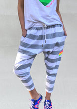 Load image into Gallery viewer, Jersey Stripe Pant - Grey & White - Hammill & Co - Mandi at Home