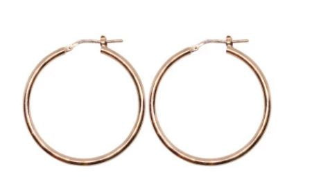 20mm Rose Gold Plated Gypsy Hoop Earrings - Mandi at Home