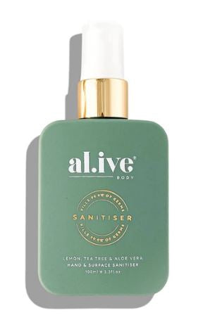 Hand and Surface Sanitiser - Lemon, Tea Tree & Aloe Vera - Mandi at Home