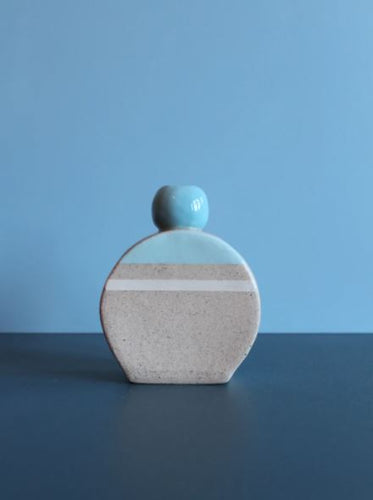 Hello Poppy Blue Small Vase - Mandi at Home