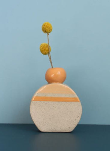 Hello Poppy Peach Small Vase - Mandi at Home