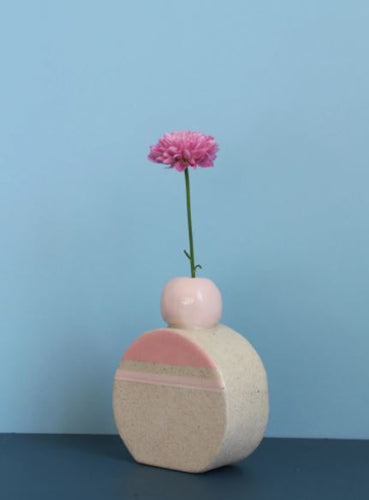 Hello Poppy Pink Small Vase - Mandi at Home
