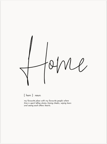 Word Print - Home - Mandi at Home