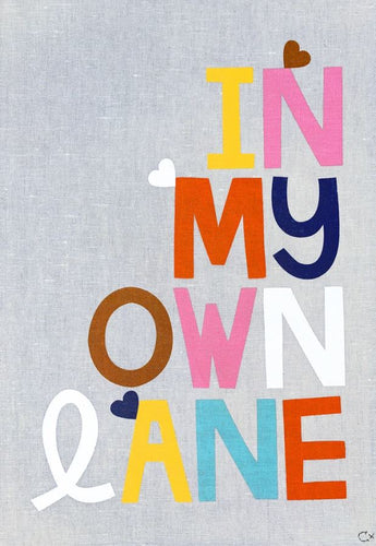Art Teatowel - In My Own Lane - Mandi at Home