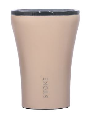 Sttoke Ceramic Reusable Coffee Cup - Ivory Chai 8oz/227ml - Mandi at Home