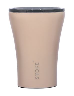 Sttoke Ceramic Reusable Coffee Cup - Ivory Chai 12oz/354ml - Mandi at Home