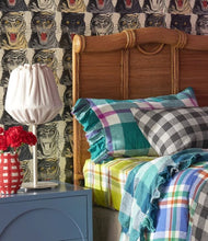 Load image into Gallery viewer, Society of Wanderers - Jelly Bean Check Ruffled Standard Pillowcase Set - Mandi at Home