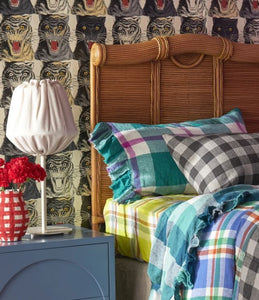 Society of Wanderers - Jelly Bean Check Ruffled Standard Pillowcase Set - Mandi at Home