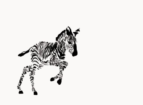 Wall Print - Jumping Zebra - Mandi at Home