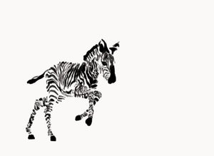 Jumping Zebra Wall Print - Mandi at Home