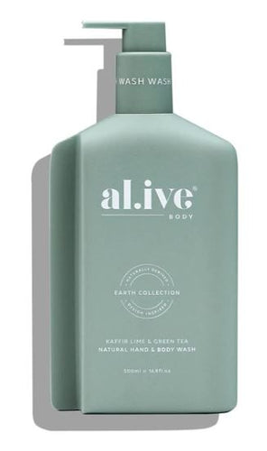 ALIVE BODY- HAND AND BODY WASH - KAFFIR LIME & GREEN TEA