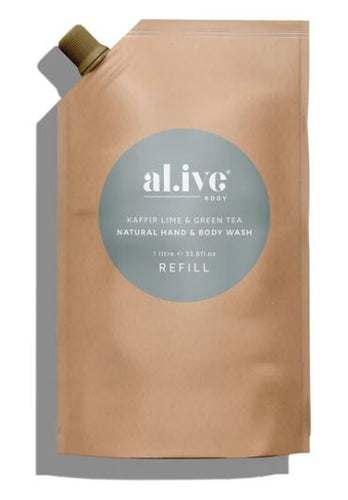 ALIVE BODY- REFILL - KAFIR LIME AND GREEN TEA BODY WASH