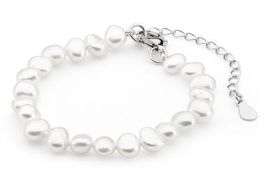White Keshi Baby Bracelet - Mandi at Home