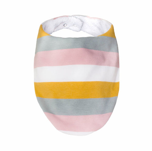 Pastel Rainbow Stripe Bib - Mandi at Home