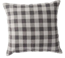 Load image into Gallery viewer, Society of Wanderers - Licorice Gingham Euro Pillowcase Set - Mandi at Home