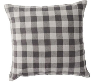 Society of Wanderers - Licorice Gingham Euro Pillowcase Set - Mandi at Home
