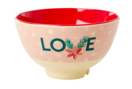 RICE - Melamine Medium Bowl with Love Print - Mandi at Home