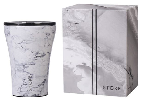 Sttoke Ceramic Reusable Coffee Cup - Luna Marble 8oz/227ml - Mandi at Home
