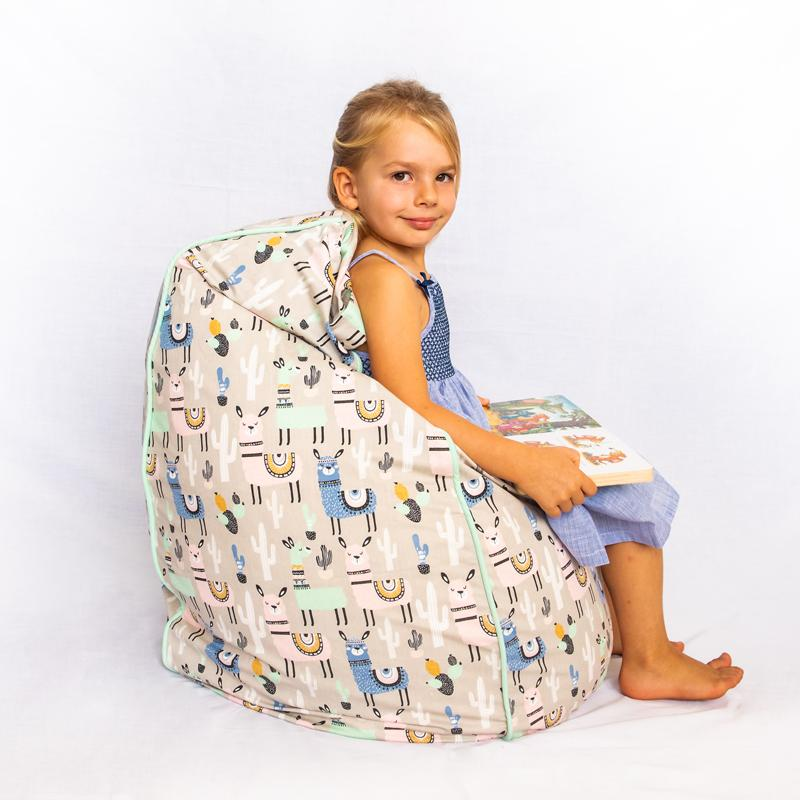 Llama Bean Bag Cover - Small - Mandi at Home