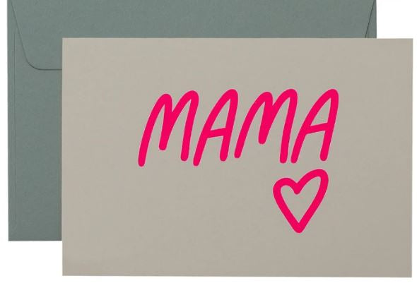 Mama Card - Neon Pink on White - Mandi at Home