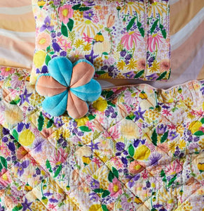 Meadow White Quilted Pillowcase 1P Single - Kip & Co - Mandi at Home