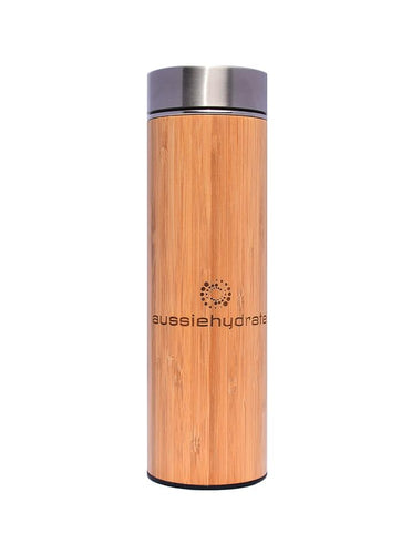 Mediterranean Bamboo Thermos with Infuser - aussiehydrate - Mandi at Home
