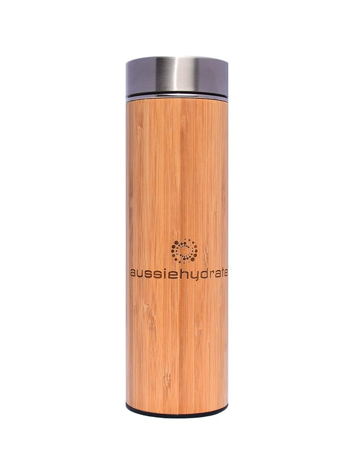 Mediterranean Bamboo Thermos with Infuser - Mandi at Home