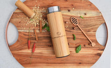 Load image into Gallery viewer, Mediterranean Bamboo Thermos with Infuser - Mandi at Home