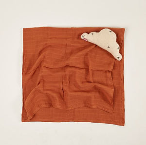 Light Blanket/Baby Muslin - Tobacco - Saarde - Mandi at Home