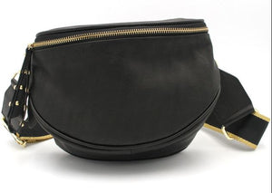 Obsessed Crossbody Bag - Black Leather - Mandi at Home
