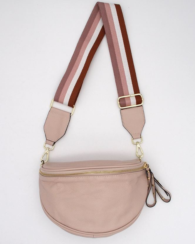 Obsessed  Crossbody Bag  - Blush Leather - Mandi at Home