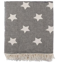 Load image into Gallery viewer, Knotty Oteki Turkish Towel - Star - Charcoal - Mandi at Home