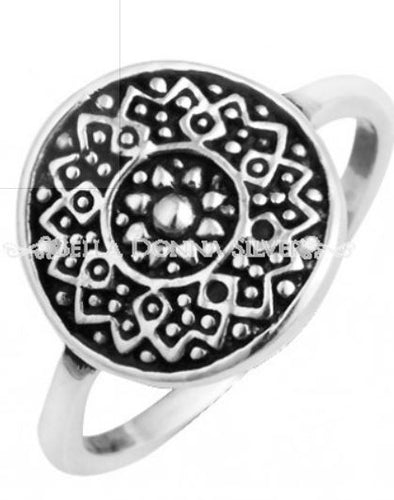 Silver Oxi Aztec Ring - Mandi at Home