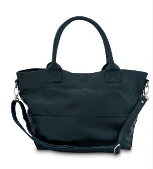 Paris Leather Tote Bag - French Navy - Bahru Leather - Mandi at Home
