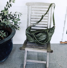 Load image into Gallery viewer, Paris Leather Tote Bag - Army - Bahru Leather - Mandi at Home