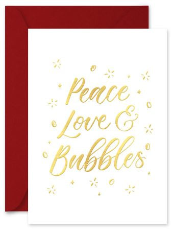 Peace, Love & Bubbles - Little Hoothoot Card - Mandi at Home