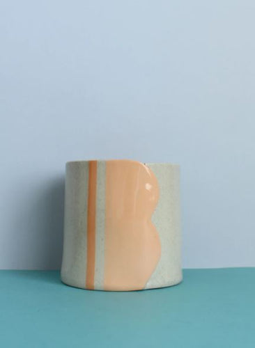 Peach Scalloped Vessel - Small - Mandi at Home