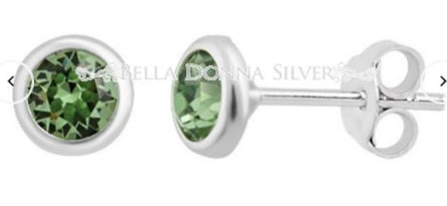 Peridot Crystal Swarovski Studs - Mandi at Home